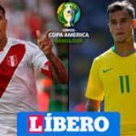 Perú y Brasil se juegan el liderato del grupo A.