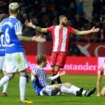 Real Sociedad-Girona en un enfrentamiento anterior