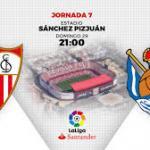 Sevilla y Real Sociedad echarán el telón a la séptima jornada