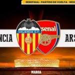 Valencia y Arsenal lucharán por un puesto en la final.