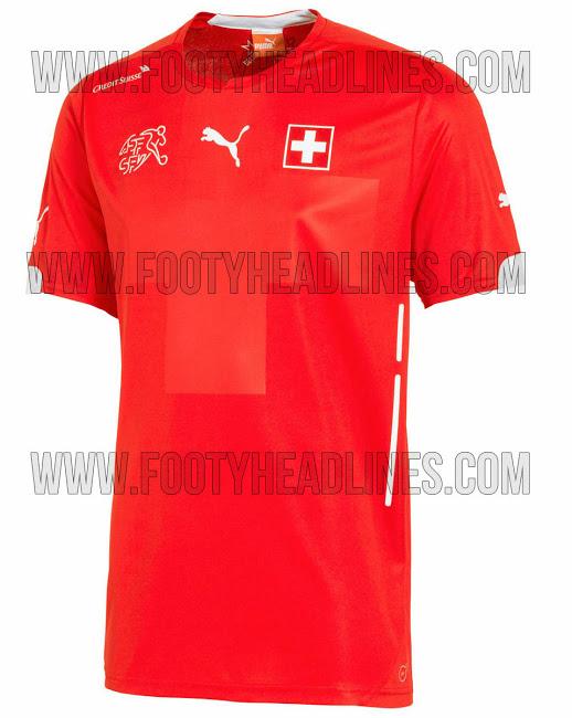 La camiseta de Suiza para el Mundial 2014