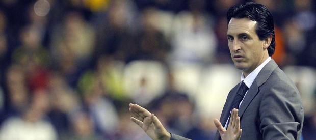 Unai Emery durante el Valencia-Real Madrid