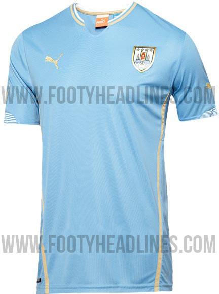 La camiseta de Uruguay para el Mundial de Brasil 2014