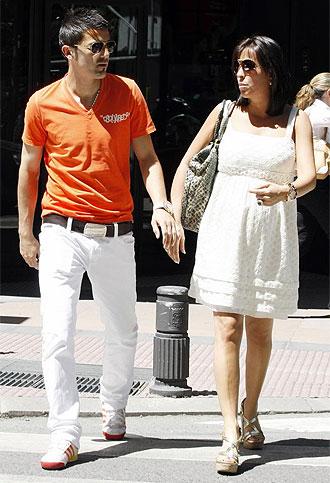 David Villa junto a su novia Patricia
